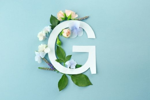 G-Spot illustrated with G surrounded by flowers